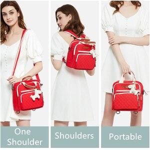 Image 5 - สูงระดับผ้าใบที่มีสีสันMommyกระเป๋าผ้าอ้อมกระเป๋าผ้าอ้อมเด็กMaternity Mommyกระเป๋าเป้สะพายหลัง/กระเป๋าถือ/Messengerสาม in Oneกระเป๋า