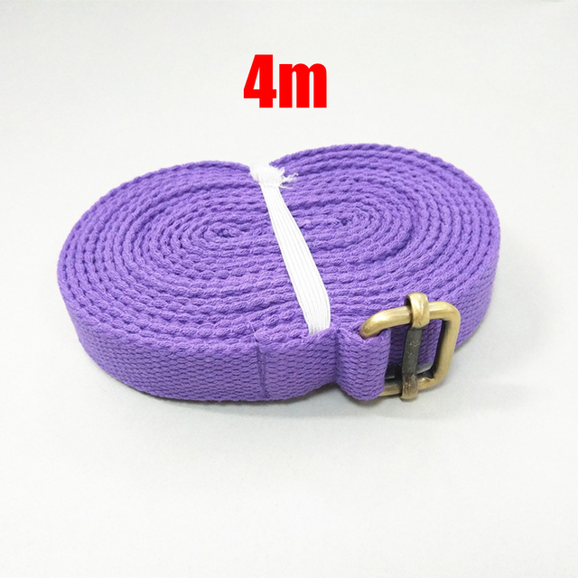4m Yoga Toning Band Gear Belt Fitness Cotton Stretching Sweat absorption 1