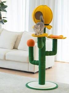 Scratch-Board Educational-Toys Cat-Tree-Cat Cactus-Shape-Design Climbing Jumping Fashion