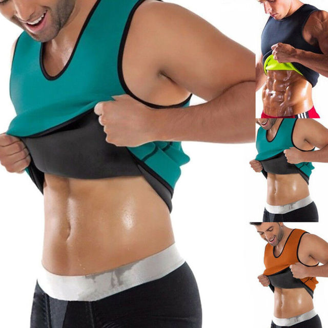 UK Men Slim Shaper Neoprene Belt Fitness Gym Sport Vest Sweating For Fat Burning Waist Body Suits 1