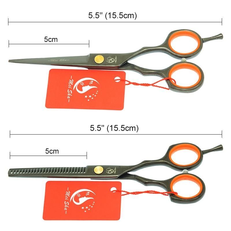 Meisha 5 5 inch Professional Hairdressing Scissors Japan Steel Salon Cutting Thinning Styling Tool Salon Haircut Tool HA0082 in Hair Scissors from Beauty Health
