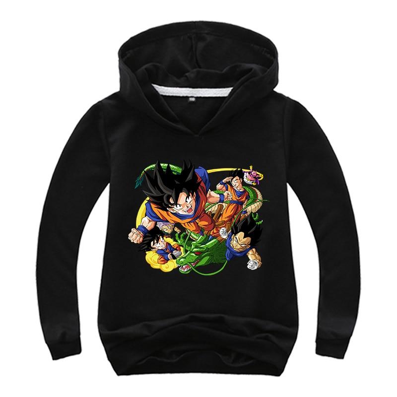 2019 Dragon Ball Hoodies Boys Clothes Z Vegeta Goku Long sleeve sweatshirts Baby Hooded Outwear