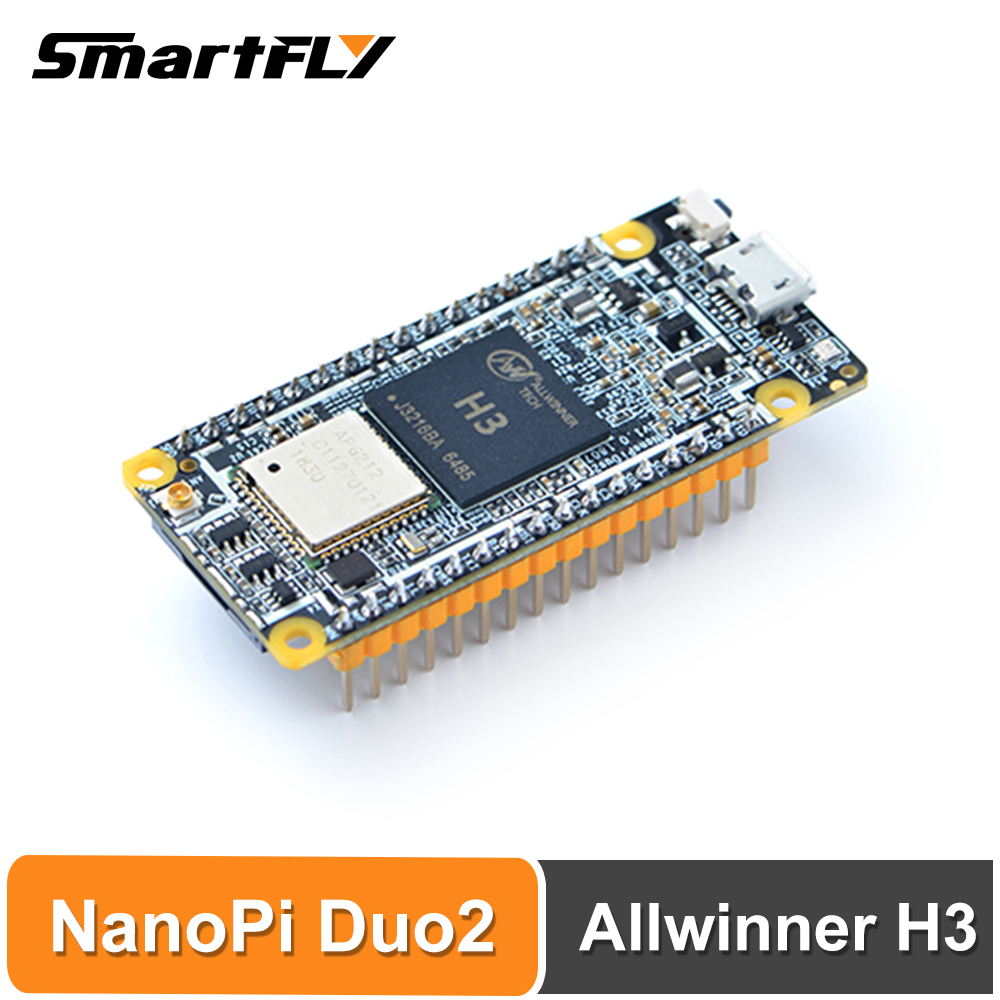 Smartfly FriendlyARM NanoPi DUO2 512M Allwinner H3 Cortex-A7 WiFi Bluetooth Module UbuntuCore Light-weight IoT Applications