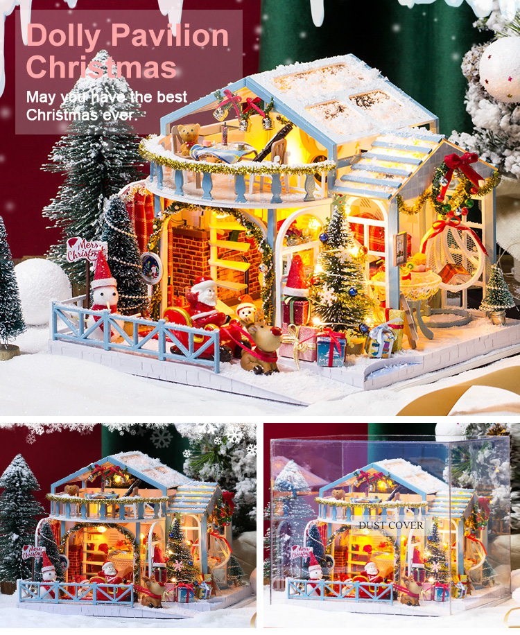 Christmas Snowy Night DIY Miniature House Kit - DIY017