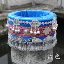 Hmong hat miao jewelry Chinese Folk Dance hair accessories Miao ethnic minority stage performance wear