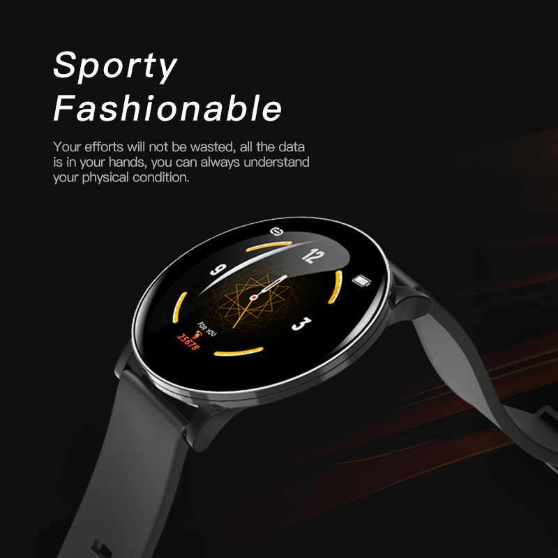 W8 スマート女性天気予報フィットネススポーツトラッカー心拍数モニタースマートウォッチアンドロイド女性メンズ腕時計