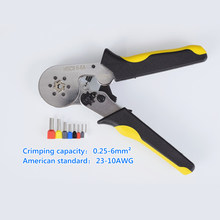 Hsc8 6-6a friso alicates 0.25-6mm2 23-10awg com 1020 700 pces tipo de tubo de agulhas terminal frio mini ferramentas de fio de pres