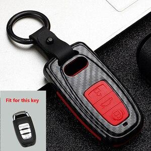 Image 4 - New ABS+Silica gel Carbon fiber Car Key Cover Case For Audi Q3 Q5 Sline A3 A5 A6 C5 A4 B6 B7 B8 TT 80 S6 C6 Remote carKey Jacket
