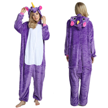 Winter Pajama Adult Animal Unicorn  Onesie Women Men Couple Pajamas Suit Sleepwear Flannel Pijamas