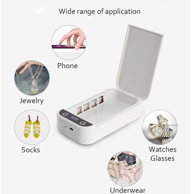 5v usb portable dual uv light sterilizer box jewelry phones cleaner personal sanitizer disinfection case for home