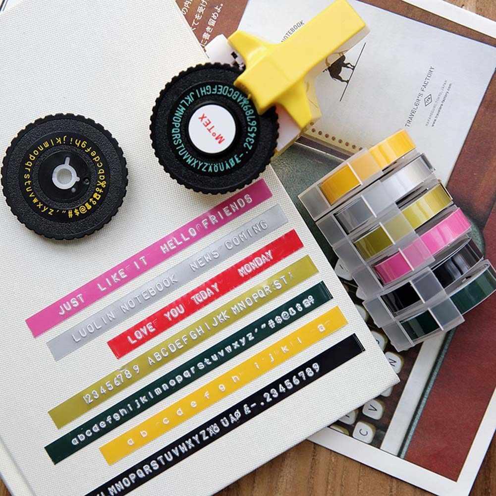 Matsuro Original Mini 3D Impresora de etiquetas M-101 con 7 cintas Pr/áctica Organizadora Manual DIY con 43 s/ímbolos Sistema intuitivo de etiquetado turn and click Impresi/ón y corte