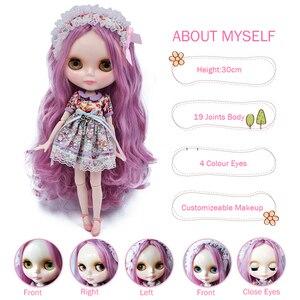 Image 3 - ブライスドールネオブライス人形 NBL カスタマイズされた光沢のある顔、 1/6 BJD 球体関節人形 Ob24 人形ブライスのため、おもちゃ子供のための NBL01