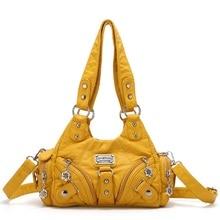 Angelkiss Women Soft Bag Small Handbags Top-handle Handbag Fashion Satchel Multi-Pockets Shoulder Bag Hobo Pack Tote Bag