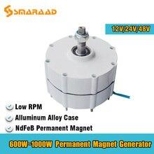 Generator 600W 800W 1000W 12V 24V 48V 3 fazy Gearless magnes trwały AC alternatory zastosowanie do wiatru turbina wodna silnik wysokoprężny