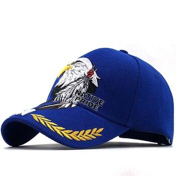 цена на Hot Men's Animal Farm Snap Back Trucker Hat Patriotic American Eagle and American Flag Baseball Cap USA 3D Embroidery