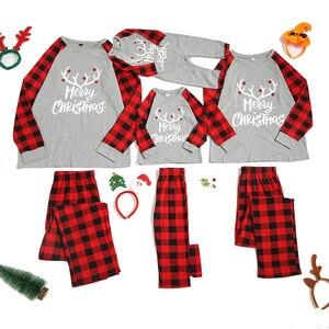 Image 1 - Conjunto de pijamas familiares de Navidad, ropa de Navidad, traje para padres e hijos, ropa de dormir de casa, trajes familiares a juego para bebé, Chico, papá, mamá
