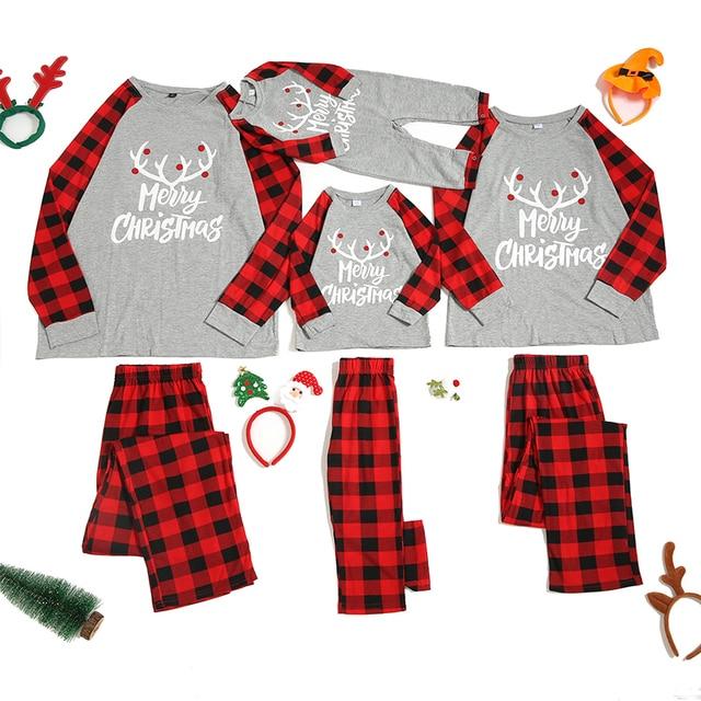 Conjunto de pijamas familiares de Navidad, ropa de Navidad, traje para padres e hijos, ropa de dormir de casa, trajes familiares a juego para bebé, Chico, papá, mamá
