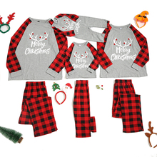 Natal família pijamas conjunto roupas de natal pai filho terno casa pijamas novo bebê criança pai mãe combinando roupas de família