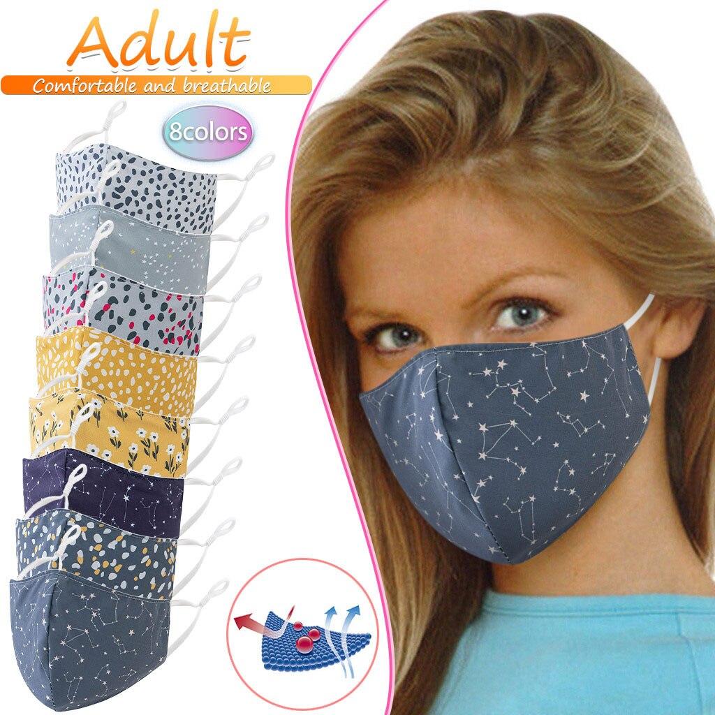 Mignon dessin animé impression lavable réutilisable masque coton poussière demi visage bouche masque adolescents hommes femmes réglable Cubrebocas Mascarilla 8.27