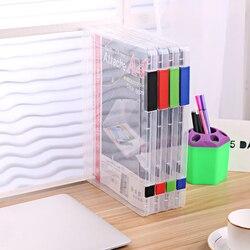 Pojemniki A4 pojemnik na dokumenty przezroczysty z tworzywa sztucznego etui na dokumenty biurko organizery papierowe pudełka do przechowywania Organizer do domu skrzynki na dokumenty