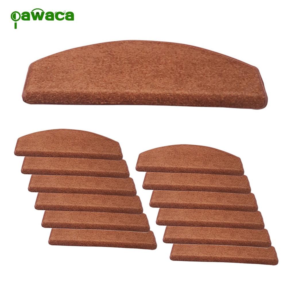 13pcs Non-Slip Carpet Stair Treads Set ,Tread Carpet Indoor Durable Mat Self Adhesive Protectors Pet Stair Cover 65x24cm
