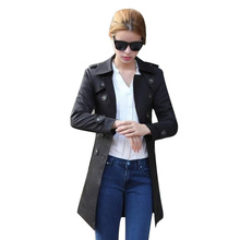 Womens Coat Belt Long Trench for Women Sleeve Clothes Loose Plus Size Korean Fashion Clothing