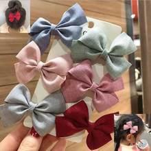 New 6pcs/lot Children Kids Hair Accessories Girls Lovely Hair Clips bows Hairpins Hair Ties Ropes Headwear Korea Hairgrips
