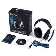 цена на SADES SA903 7.1 Surround Sound USB PC Stereo Noise-Canceling Gaming Headset High Sensitivity Volume-Control with Mic LED Light