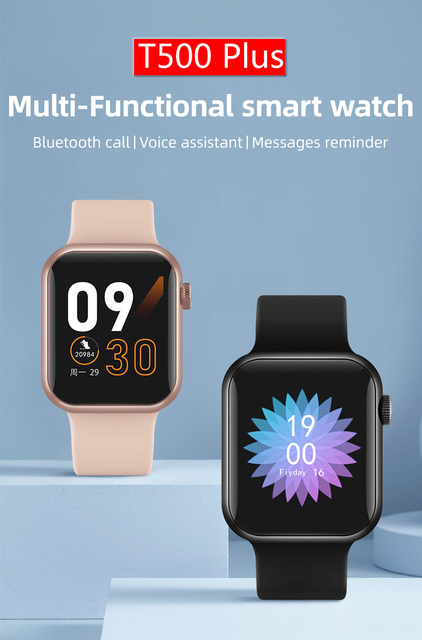 2021 Newest IWO 13 T500 Plus Smart Watch Men Women Fitness Tracker Bluetooth Call Sport Smartwatch PK IWO 12 W46 W26 HW22 AK76 2