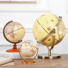 1 шт. вращающийся винтажный Глобус мира с подставкой карта океана земли мяч офисный Настольный антикварный домашний декор география образовательная модель