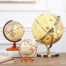 1PC Rotating Globo Do Mundo Com Suporte Terra Mapa Do Oceano Do Vintage Bola de Desktop Do Escritório Antigo Decoração de Casa Modelo Educacional Geografia