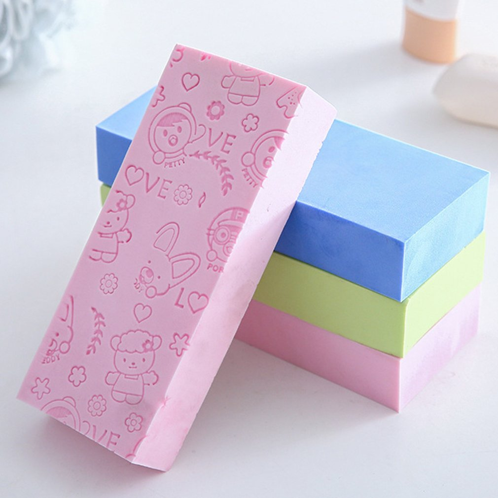 Portable Size Children Baby Body Cleaning Shower Wash Sponge Comfortable Exfoliating Body Cleaning Scrubber Cleaning Tool