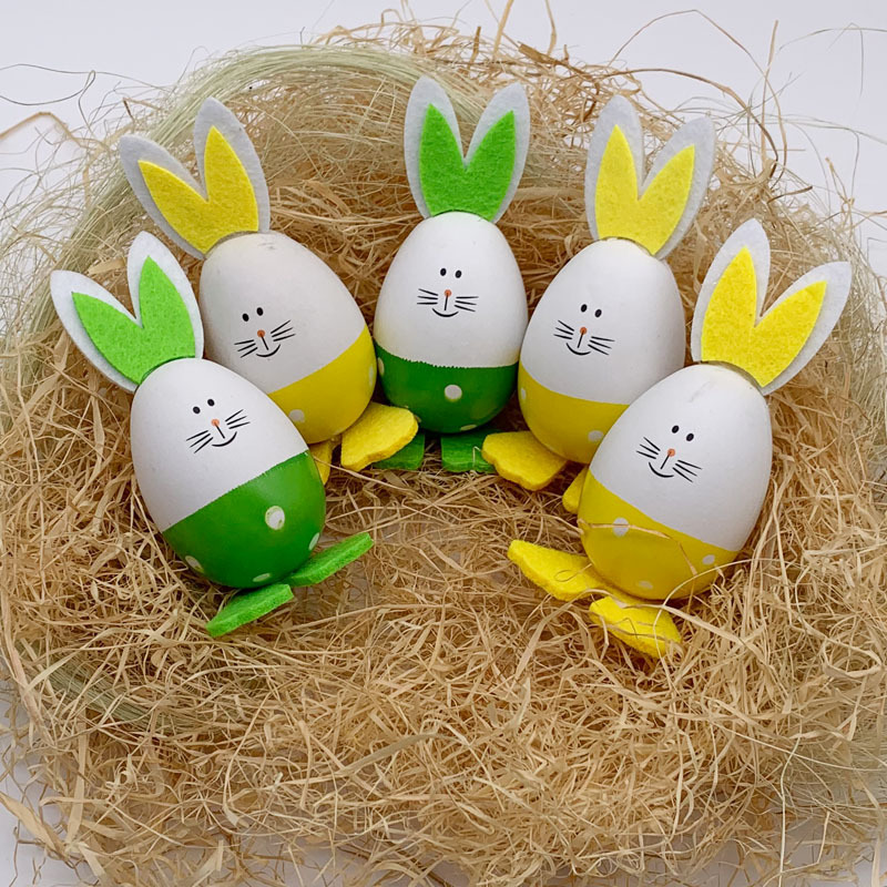 2pcs Easter Egg DIY Cute Bunny Home Decoration Kindergarten Handcraft Educational Kids Toys  Easter Home Decoration