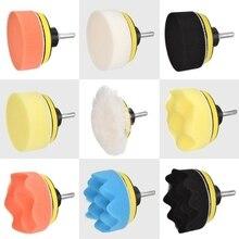 11 pezzi 3 pollici collegati a un trapano disco di lucidatura tampone di lucidatura ruota di lana spugna autoadesiva per la pulizia di tappeti, vetri, auto