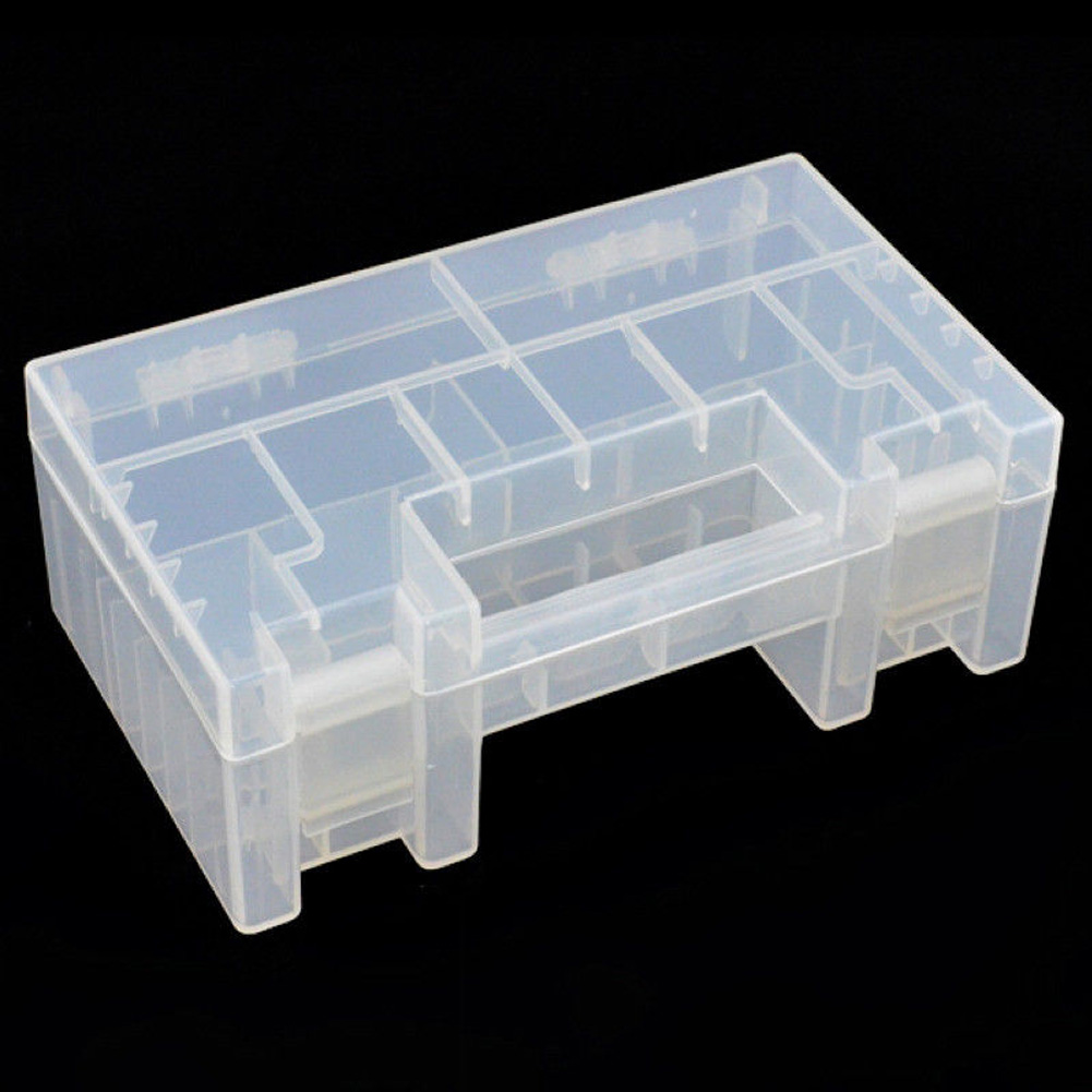 Clear Large Capacity Battery Case Wear Resistant Holder Storage Box Inner Compartment Hard Plastic Anti Impact Practical AA AAA