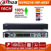 Dahua Pro-grabador de vídeo de red NVR Original, 16 canales, puerto de NVR5216-16P-4KS2E, habla bidireccional, e-poe, 800M, MAX, 16 canales