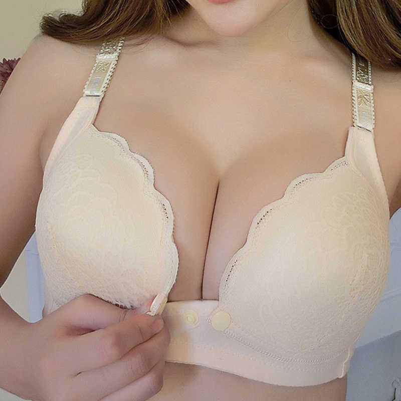 Wire Free Front Closure Breastfeeding Maternity Nursing Bra Pregnant Women Sleeping Bras Soutien Gorge Allaitement Underwear