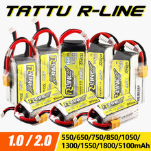 Gens Ace Tattu R-Line 1.0 2.0 LiPo Rechargeable Battery 550/650/750/850/1050/1300/1550/1800mah 95C 3S 4S 6S for RC FPV Racing