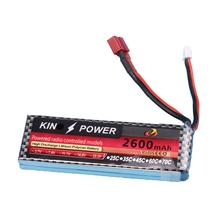 RCtown 7.4V 2600mAh Lipo Battery T Plug for WLtoys 1/14 144001 RC Car