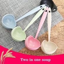 Tableware Kitchen-Spoon Cooking-Colander Long-Handle Plastic 2-In-1 Hot-Sale