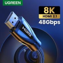 كابل HDMI من Ugreen لسلسلة Xbox X HDMI 2.1 كابل 8K/60Hz 4K/120Hz HDMI الخائن لشاومي Mi Box PS5 HDR10 + 48Gbps HDMI 2.1