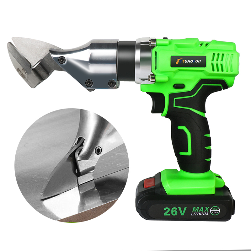 Portable Cordless Rechargeable Electric Scissor Metal Sheet Shear Cutter Scissors Power Tool 26V 6000mAh