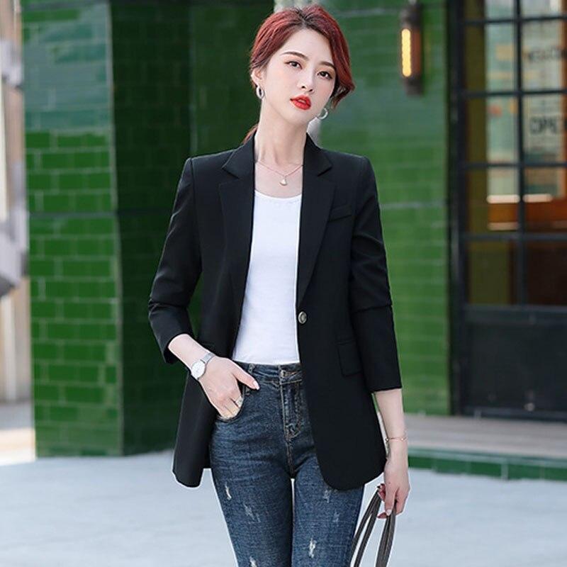 1pcs Women's plus size Blazers coats 2020 Autumn New Fashion Cotton blend Small Suits jackets ladies Skinny Office Blazers Suits