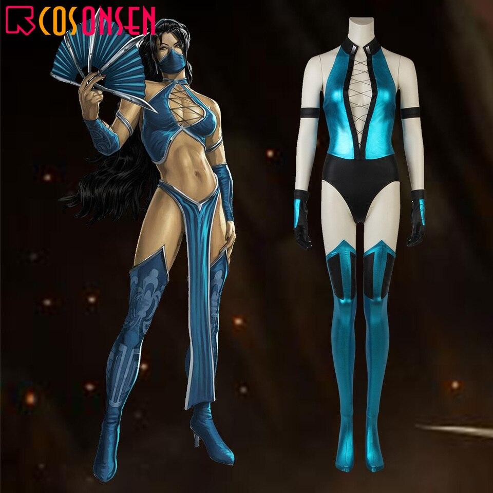 Mortal Kombat X Cosplay Kitana Costume Game Superhero Suit Adult