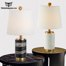 Modern Natural Marbl LED Art Table Lamp Home Decoration Mini Desk Table Light Bedroom Bedside Lamp Table Lamps for Living Room