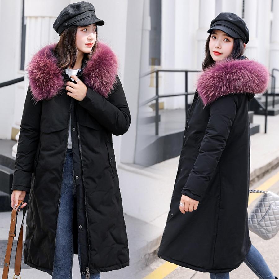 women jacket for winter 2019 cotton padded warm thicken Wear on both sides long Outwear plus size winter coat female parka