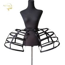 50s Womens Hollow Short Bird Cage Petticoats Elastic Waist Cosplay Hoops Wedding Prom Crinoline Slip Vintage Rococo Underskirt