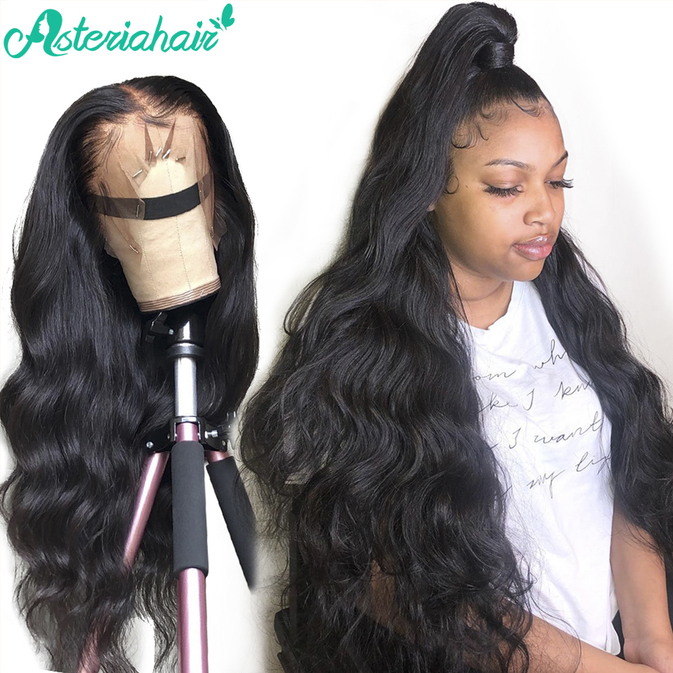 Asteria-Peluca de cabello humano 360 con encaje Frontal prearrancado, cuerpo brasileño, 360, encaje Frontal, Remy, para mujeres negras