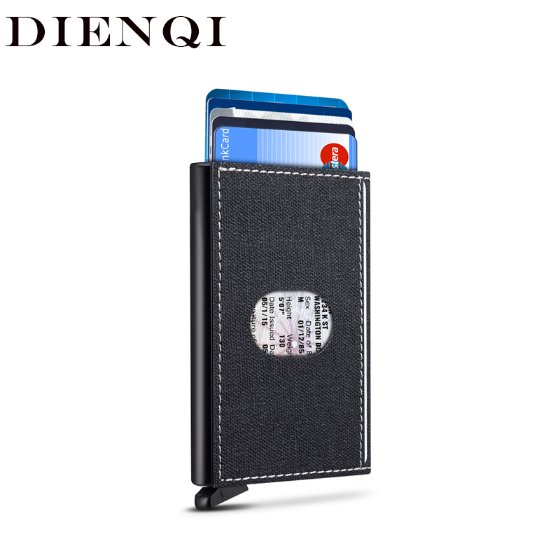 DIENQI Rfid Blocking Credit Card Holder Men Smart Wallet  Aluminum Metal Business Bank Card Case Pocket CreditCard Cardholder