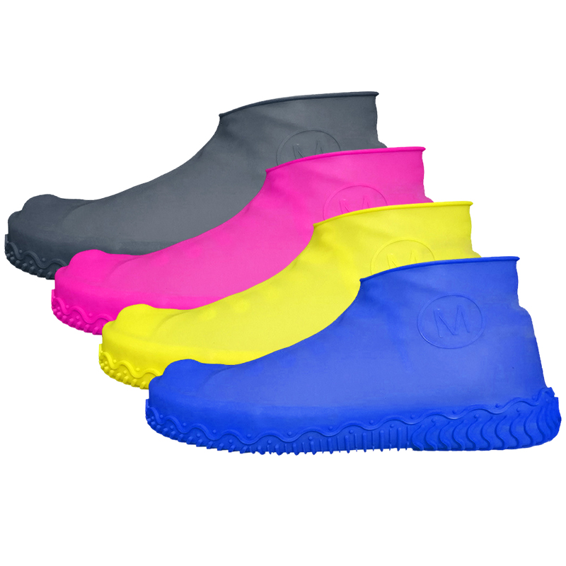 Unisex Wear Resistant Waterproof Shoe Protector Made of Silicone Material with a Non Slip Textured Sole for Outdoor in Rainy Days